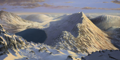 Dawn over Striding Edge Original Oil Painting