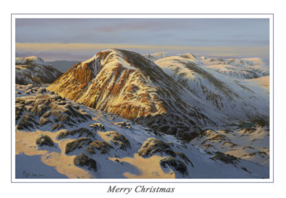 Evening Glow Great Gable Christmas Card
