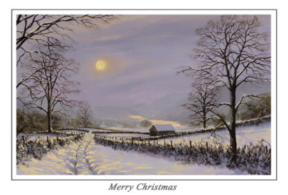 Winters Moon Christmas Card